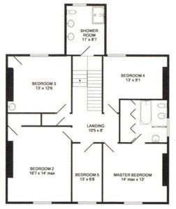 Captains House First Floor Plan
