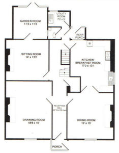 Captains House Ground Floor Plan